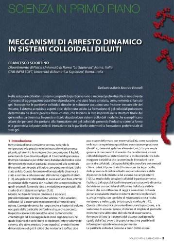 Meccanismi di arresto dinamico in sistemi colloidali