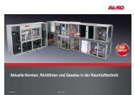 Aktuelle Normen, Richtlinien und Gesetze in der ... - LKV Oelze GmbH