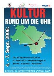 Sonntag, 7. September 2008 Die Samtgemeinde Liebenau ist dabei ...