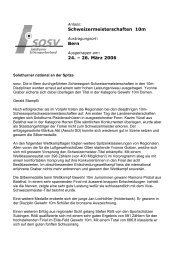 Schweizermeisterschaften 10m Bern 24. – 26. März 2006 - SOSV ...