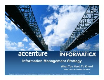 Information Management Strategy Approach - Informatica