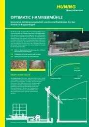 Flyer Hammermühle - Huning Maschinenbau