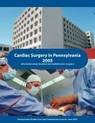 Cardiac Surgery Report - Pennsylvania Health Care Cost ...