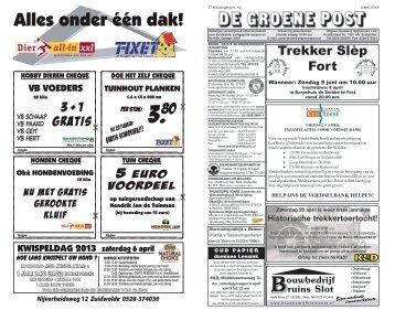 De Groene Post, editie 3 april - Boekhandel en Drukkerij Spijkerman