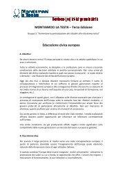 MONTIAMOCI LA TESTA – Terza Edizione Educazione civica europea