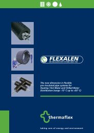 The new dimension in flexible pre-insulated pipe ... - thermaflex