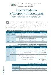 Formations a Agropolis International
