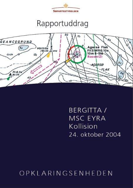 kollision den 24. oktober 2004 uddrag på dansk - Søfartsstyrelsen