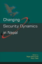 Changing Security Dynamics in Nepal - Saferworld