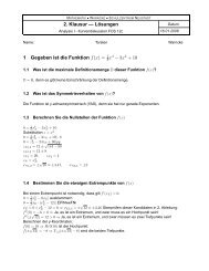 FOS 12c Mathematik 2. Klausur