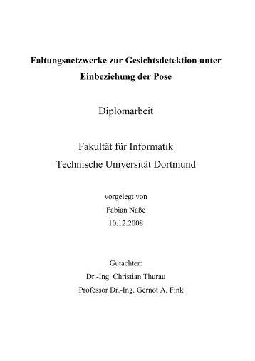 Faltungsnetzwerke zur Gesichtsdetektion unter ... - Gernot A. Fink