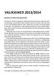 valikained 2013/2014 - Rocca Al Mare Kool