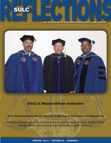 SULC-A Mission-Driven Institution - Southern University Law Center