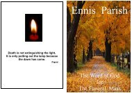 A Simple life but Close to God. - Ennis Parish