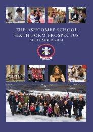 Sixth Form 2013 Prospectus - Ashcombe School