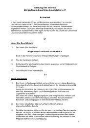 Satzung - Home @ BÜRGERFORUM LAUCHHAU-LAUCHÄCKER