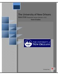 View Grades - The University of New Orleans - PeopleSoft Training
