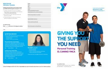 Download our latest Personal Training flier.
