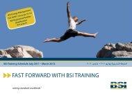FAST FORWARD WITH BSI TRAINING