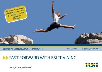FAST FORWARD WITH BSI TRAINING