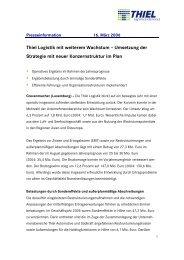 Thiel Logistik mit weiterem  Wachstum – Umsetzung der ... - Logwin AG