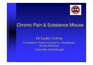 Chronic Pain & Substance Misuse - SMMGP