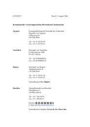 Konsularische Vertretungen beim Fürstentum Liechtenstein