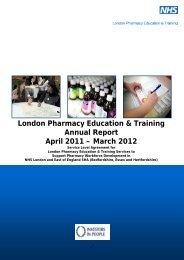 London Pharmacy Education & Training Annual Report ... - LPE&T