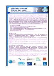 Présentation de l'Institut Pierre Simon Laplace - CNRS