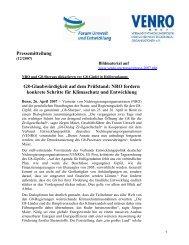 Pressemitteilung G8-Glaubwürdigkeit auf dem Prüfstand ... - Venro