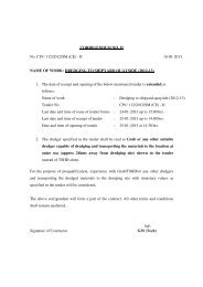 CORRIGENDUM NO. II No. CIV/ 112/2012/SM (CE ... - Tenders India