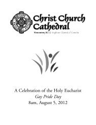 August 5, 2012 - Christ Church Cathedral Vancouver