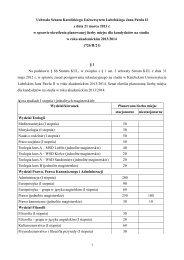 Uchwała Senatu KUL z dnia 21 marca 2013 r. w sprawie ... - Lublin