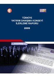 yatırım danışma konseyi ilerleme raporu 2010 - YASED Uluslararası ...