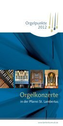 Orgelpunkte.2012 - Lambertusmusik