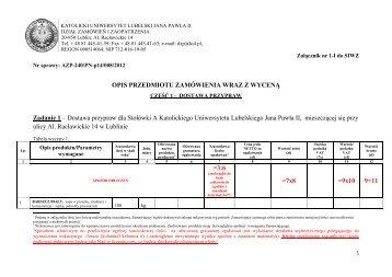 Załączniki do SIWZ po zmianach z dnia 13.04.2012 r.pdf - Lublin
