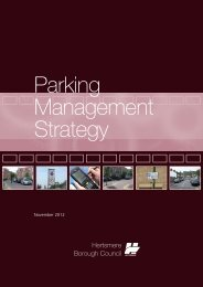 Parking Strategy - Hertsmere Borough Council