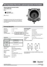 MCE Kapselfeder-Manometer, explosionsgeschützt mit ... - Baumer