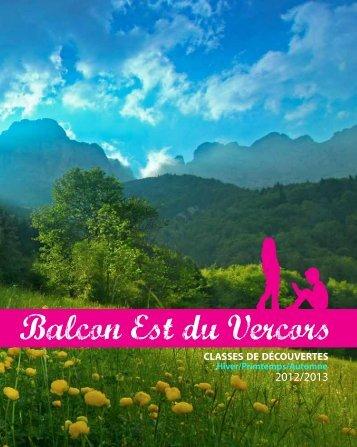 Brochure classes de découverte 2013 - Balcon Est du Vercors