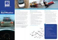 information for Driving in Bad Weather - West Lothian Council