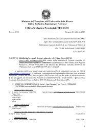 Nuovi codici meccanografici delle scuole della provincia di Teramo ...