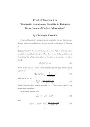 "Proof of Theorem 2 in ""Stochastic Evolutionary Stability in Extensive ..."