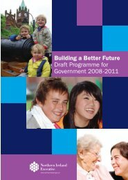 Building a Better Future Draft Programme for Government ... - CAIN