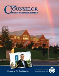 Welcome Dr. Paul Barker - Our Lady of Good Counsel High School