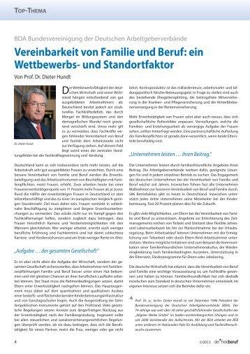 Vereinbarkeit von Familie und Beruf - Bundesverband der Freien ...