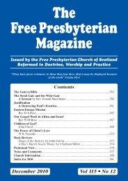 December - the Free Presbyterian church of Scotland