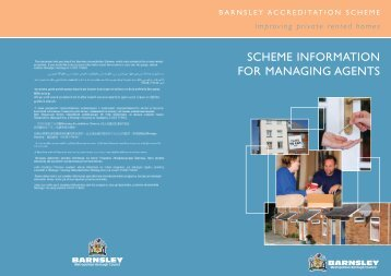 scheme information for managing agents - Barnsley Council Online