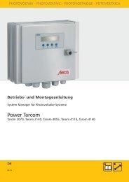 Montage- und Betriebsanleitung - Solaranlagen / Photovoltaik