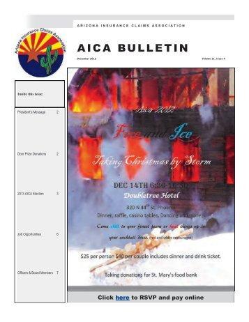 December - the Arizona Insurance Claims Association