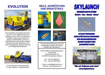 Three fold brochure German March 2012 - Skylaunch.de